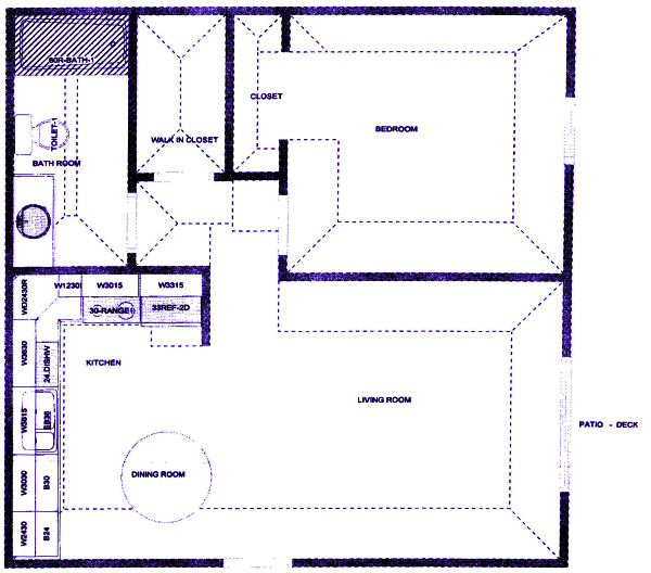 Small One Bedroom Apartment Floor Plans Evergreen Terrace